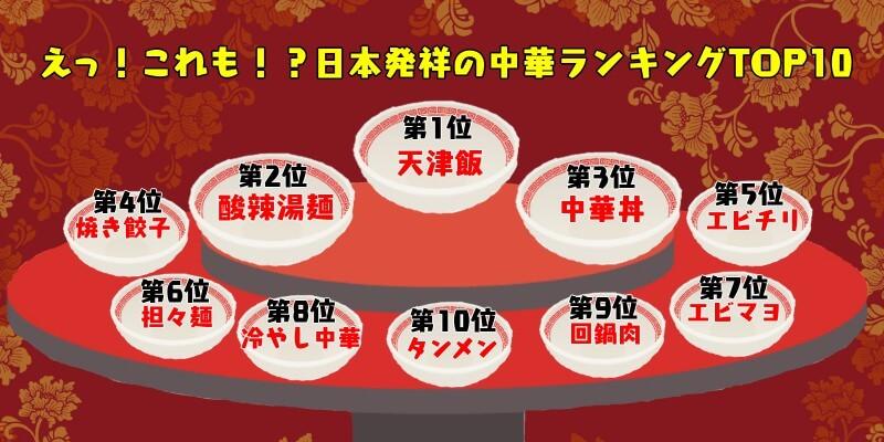 日本発祥の中華ランキング画像