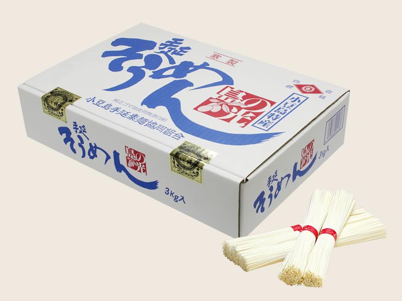 小豆島手延素麺協同組合 島の光 上級【赤帯】 商品画像