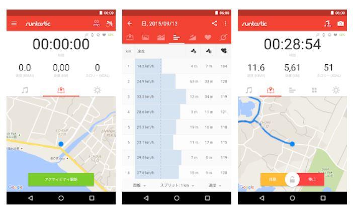 Runtastic ロードバイク アプリ説明画像