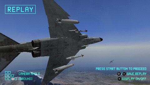 エースコンバットX スカイズ・オブ・デセプション プレイ画像