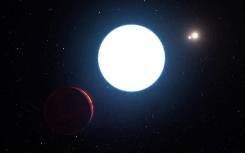 3つの恒星と1つの惑星